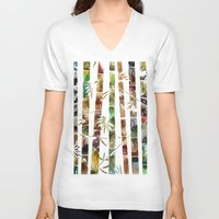 bamboo V-neck T-shirts featuring BAMBOO by LUCIA BROMBERG