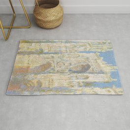 Rouen Cathedral, Sunflight by Claude Monet Rug