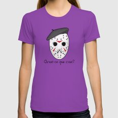 Psycho Killer Womens Fitted Tee Ultraviolet LARGE