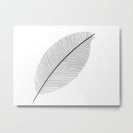 Leaf minimalism decor | black and white minimalism | Magnolia inspired designs Metal Print