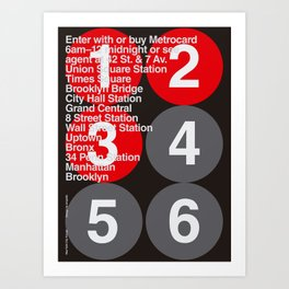 New York City Subway Poster Art Print