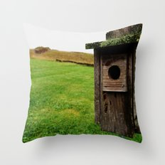 Abandoned Home Throw Pillow