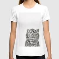 kitten T-shirts featuring Kitten by Vicky Lewis