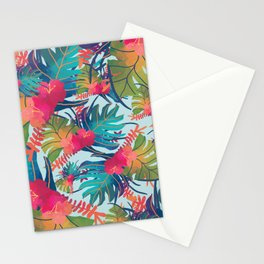 Watercolor Tropical Pattern Stationery Cards
