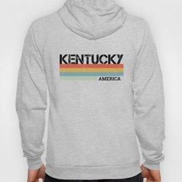 Kentucky Retro Vintage Stripes Print Gift & Souvenir Hoody