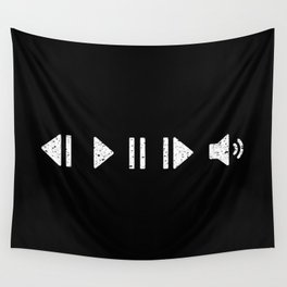 White Music Controls Wall Tapestry