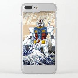 Gundam X Kanagawa wave Clear iPhone Case