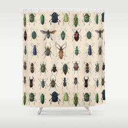 Insects, flies, ants, bugs Shower Curtain