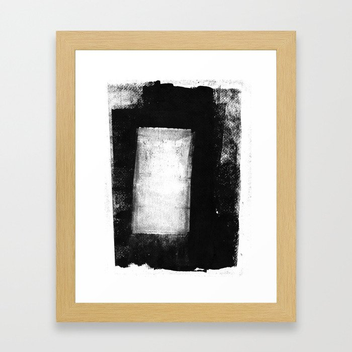 White Rectangle - Black and White Minimalist Abstract Painting ...