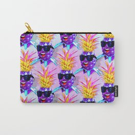 Pineapple Ultraviolet Happy Dude with Sunglasses Carry-All Pouch
