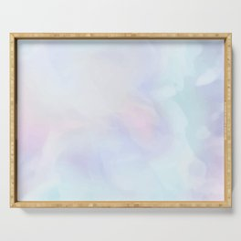 Dreamy Blue Watercolor Art Serving Tray