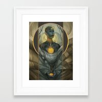 honeycomb Framed Art Prints featuring Honeycomb by Julie Dillon