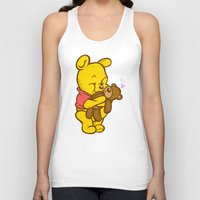 pooh Tank Tops featuring Pooh And Teddy by Artistic Dyslexia