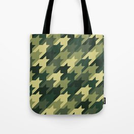 Camouflage houndstooth Tote Bag