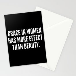 Grace in women has more effect than beauty Stationery Cards