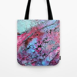 Magenta in turquoise Tote Bag