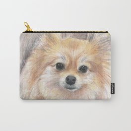 Pomeranian Watercolor Pom Puppy Dog Painting Carry-All Pouch