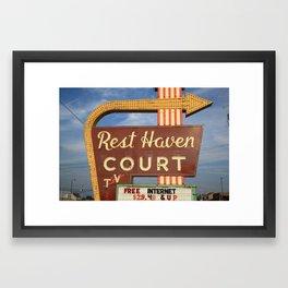 Route 66 - Rest Haven Motel 2010 Framed Art Print