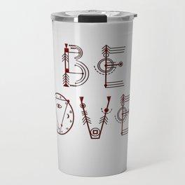 BeLoved Sacred Geometry Letters Travel Mug
