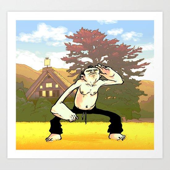 Morning Exercise Art Print