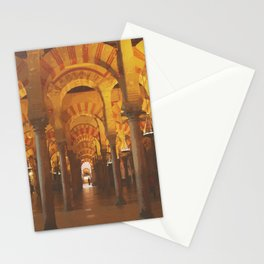 Double-tiered arches and columns in Cordoba mosque Stationery Cards