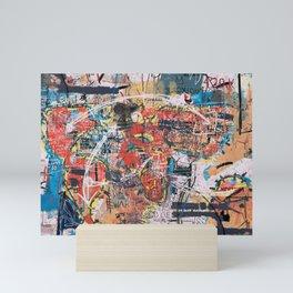 World Mapsqiuat Mini Art Print