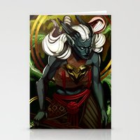 dragon age Stationery Cards featuring Dragon Age UNBOUND by IVIDraws