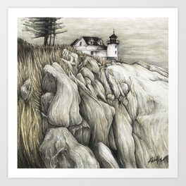 Bass Harbor Head Lighthouse Art Print