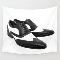 shoes Wall Tapestries featuring Dress Shoes by McGrathDesigns