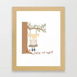 On the Swing, In the Tree Framed Art Print