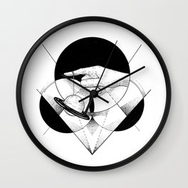 Holding the universe  Wall Clock