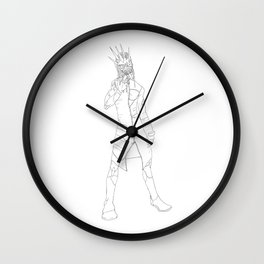 Little Boys... (lineart) Wall Clock