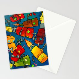 Robot - Robot Party 2 (Zero Gravity) Stationery Cards