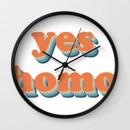 Yes Homo Wall Clock