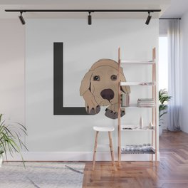L is for Labrador Wall Mural
