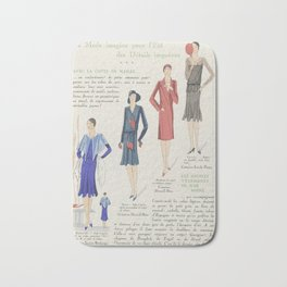 Art - Taste - Beauty, notepads of feminine elegance, in June 1929, No. 106, 9th year, p.17, anonymou Bath Mat