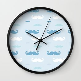 Moustache Cloud Wall Clock