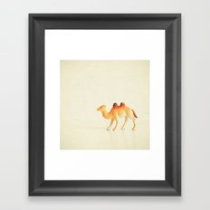 Cunning Camel Framed Art Print