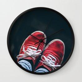 Feet Were Made to Wander Wall Clock