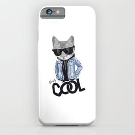stay cool cat iPhone Case