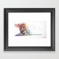 I practice self mutilation Framed Art Print
