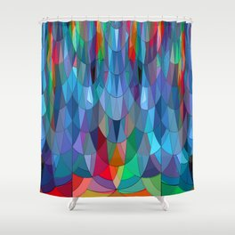 The Many Colors of the Mermaid.... Shower Curtain
