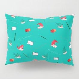 Teal Whale Shark and Shark Pillow Sham