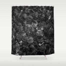 Tibetan Black Quartz Shower Curtain