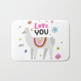 Love you lama Bath Mat