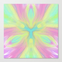 Sacred Heart Digital kaleidoscope Art Canvas Print
