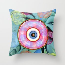 Flower Wheel Throw Pillow