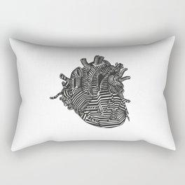 Digital Heart Rectangular Pillow