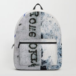 Polish Lines Abstract Collage Backpack
