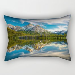 Sawtooth Range Morning Reflection Rectangular Pillow